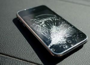 shattered broken iPhone Screen Glass