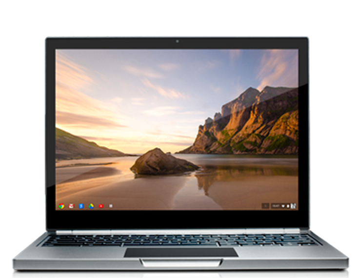 Chromebook Pixel high-resolution display front