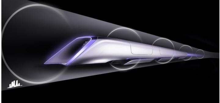 hyperloop capsule rendering not a train
