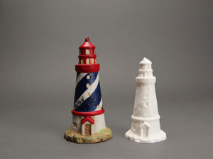A scanned and replicated lighthouse Courtesy: Makerbot
