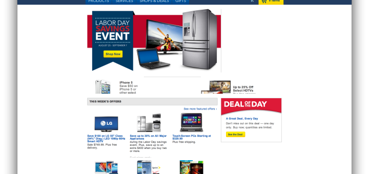 best buy homepage (current)