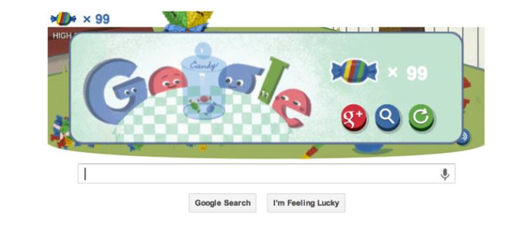 google's 15th birthday piñata game