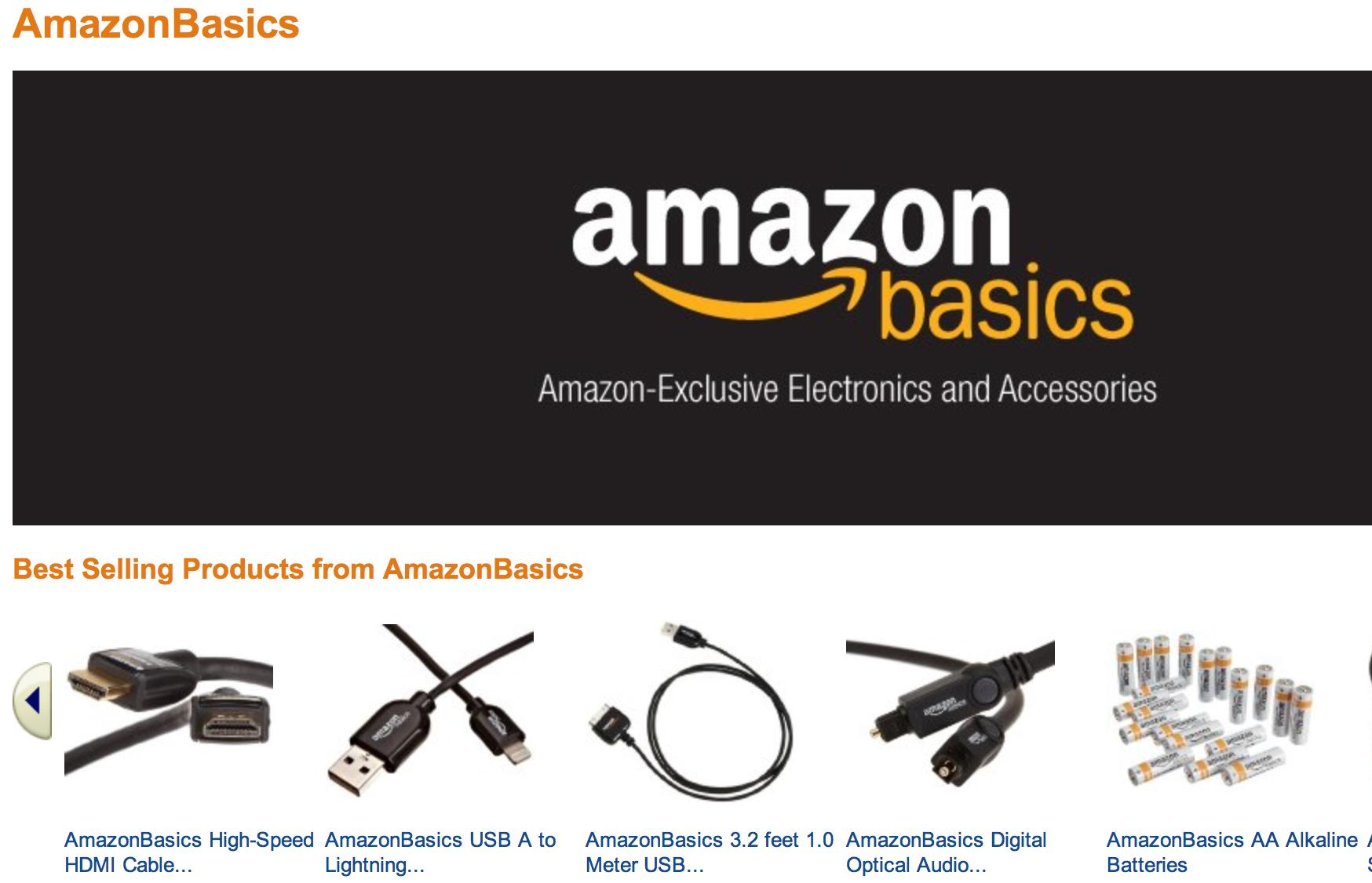 amazon basics homepage