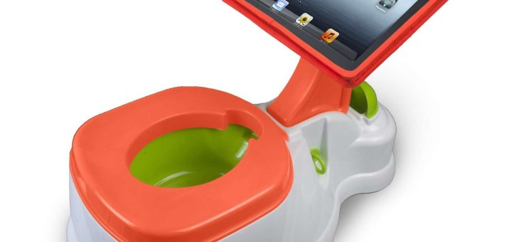 the ipotty - a potty training toilet with a built-in ipad stand