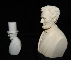 lincoln bust 3d scanned by the robocular 3D scanner
