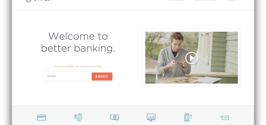 Simple Banking Startup Acquisition Homepage