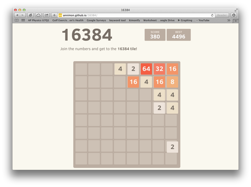 open-source version of 2048 and 1024 is 16384