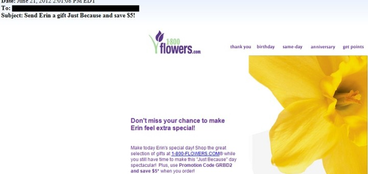 1800 flowers - the worst email newsletter