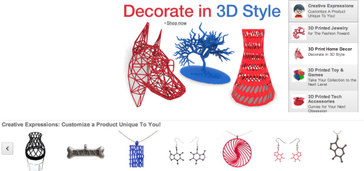 3D printed products on Amazon 3D print store