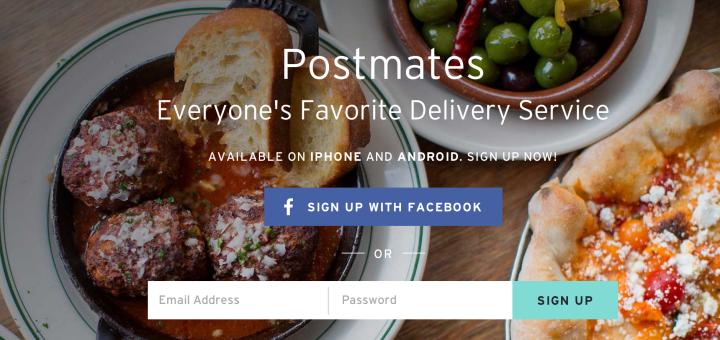 postmates and foursquare
