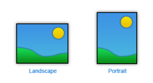 portait move vs landscape mode