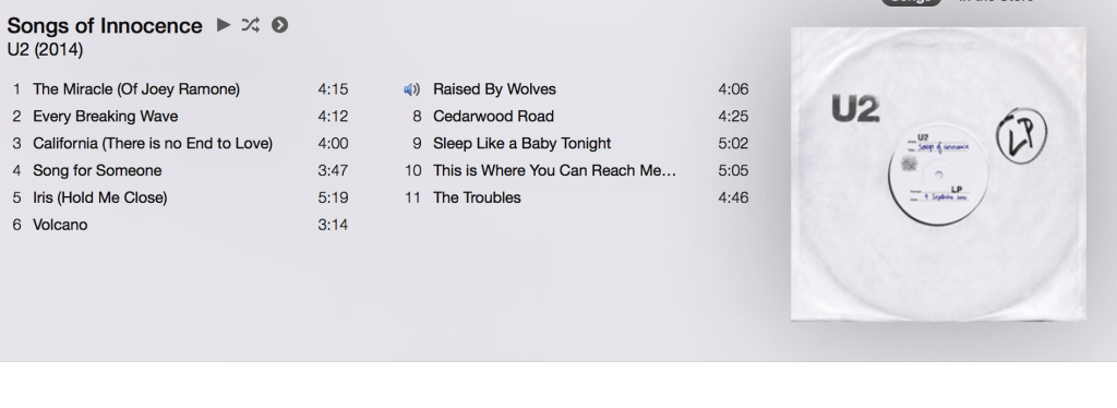 U2 Songs of Innocence on iTunes