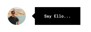 Ello Say Ello button for social network