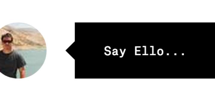 Ello Say Ello button for social network