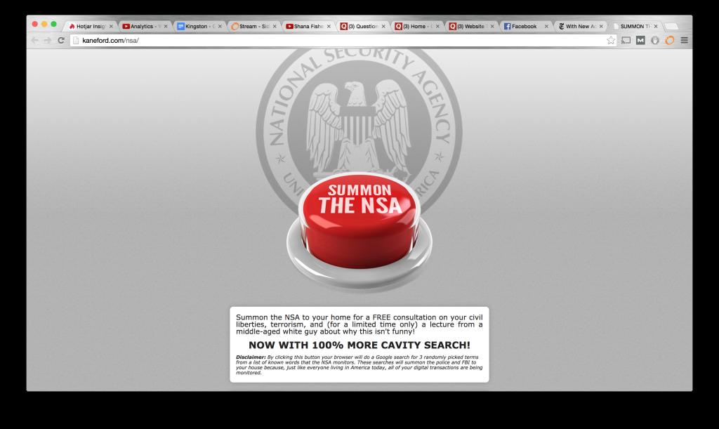 Meet The NSA button