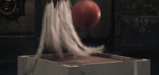 bowling ball feather experiment video slow motion